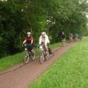 Ein Teil der Gruppe entlang dem Rhein-Marne-Kanal zwischen Saverne und Straßburg